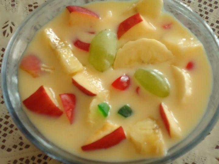 Custard Milk Fruit Salad