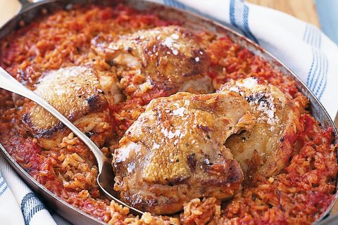 chicken and tomatoes rice