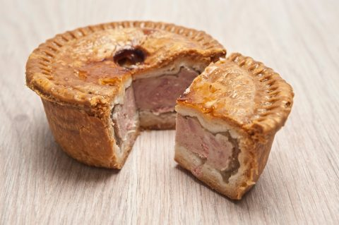 Deep dish pork pie